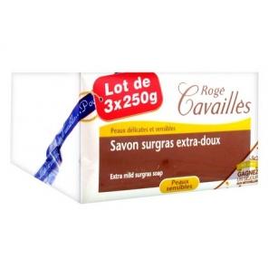 Rogé Cavaillès savon surgras extra doux 250gx3