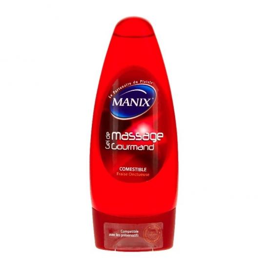 Manix Gel de Massage Gourmand Massant Fraise Onctueuse 200 ml