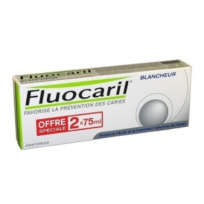 Fluocaril blancheur dentifrice duo 75ml