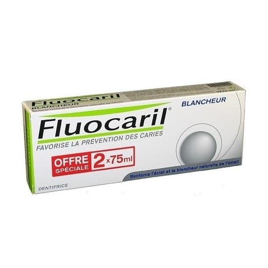 Fluocaril blancheur dentifrice duo 75ml