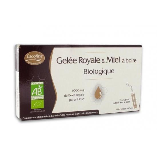 Pilèje Gelée royale et miel à boire bio 10 unidoses de 10ml