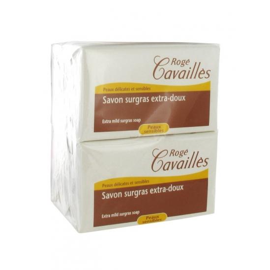 Rogé Cavaillès Savon Surgras Extra-Doux Lot de 3x250g + 1Gratuit