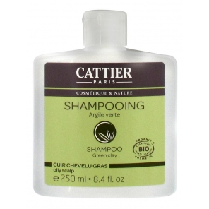 Cattier Shampooing Cuir Chevelu Gras Argile Verte 250 ml