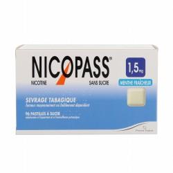 Nicopass menthe fraîcheur 1,5 mg 36 pastilles