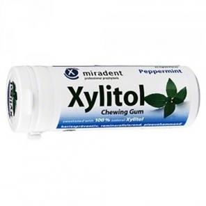 Miradent Xylitol Chewing gum menthe poivrée 30g