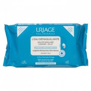 Uriage Eau Micellaire Thermale peau normale à sèche 25 lingettes