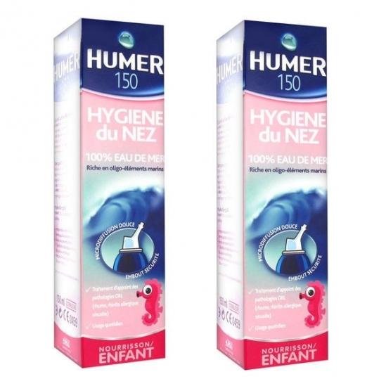 Urgo Humer Hygiène Nez Solution Isotonique enfant & nourrisson 150ml x 2