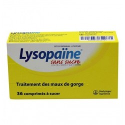 Lysopaïne miel citron sans sucre 36 comprimés à sucer