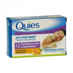Quies pastilles à sucer anti-ronflement agrumes 12 pastilles