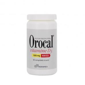 Orocal Vitamine D3 500 Mg/400 U.I., Comprimé A Sucer