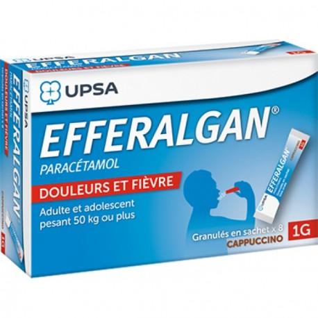 Efferalgan 1g Cappuccino granulés 8 sachets