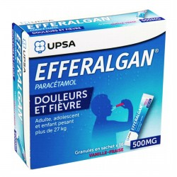 Efferalgan 500 Mg Vanille-Fraise Granulés 16 Sachets