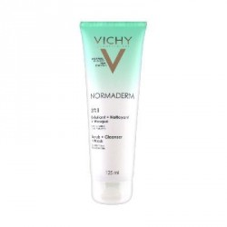 Vichy Normaderm 3en1 Exfoliant + Nettoyant + Masque 125 ml