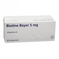 Biotine 5mg 60 comprimés chute de cheveux