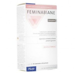Pilèje Feminabiane Conception boite de 30 comprimés et 30 capsules