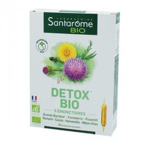 Santarome detox bio aux 5 émonctoires 20 ampoules