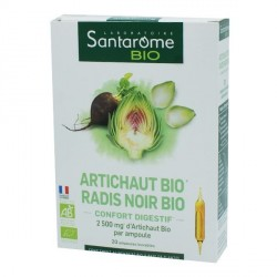 Santarome artichaut et radis noir bio boite de 20 ampoules