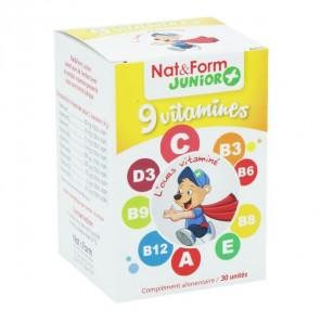 Nat & Form junior+ ours et ourons aux 9 vitamines boite de 30 unités