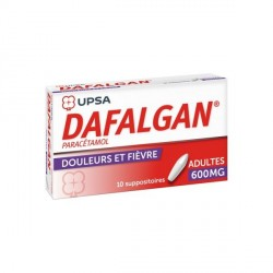 Dafalgan adultes 10 suppositoires 600mg