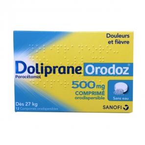 Dolipraneoro 500mg 12 comprimés orodispersibles