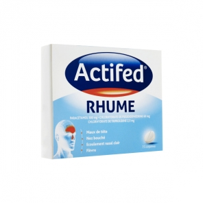 ACTIFED RHUME 15 COMPRIMES