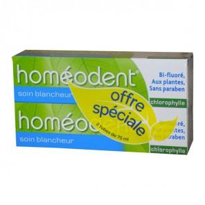 Homeodent soin blancheur 2x75ml
