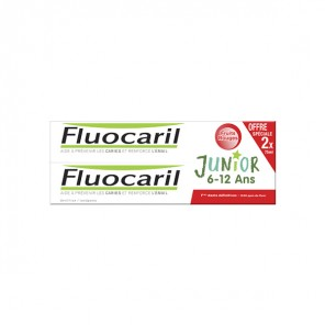 Fluocaril junior 6-12 ans fruits rouges 2x75ml