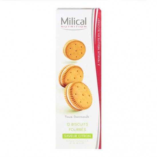 Milical nutrition saveur citron 12 biscuits