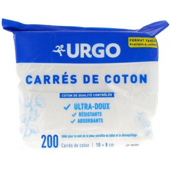 URGO CARRE DE COTON SACH 200 10X8CM