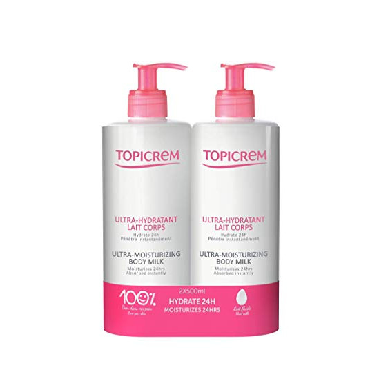 Topicrem ultra-hydratant lait corps 500ml x2