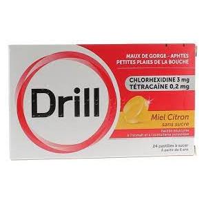 DRILL S/SUC MIEL CITRON PAST24