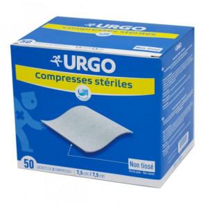 URGO BTE 50 SACH 2 COMPRESSES NT 7,5X7,5