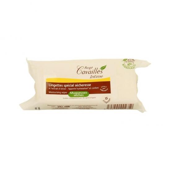 Rogé Cavaillès lingettes intime hydratantes 15 lingettes