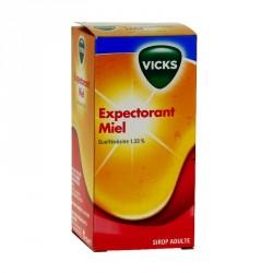 Vicks expectorant guaifenesine 1.33% adultes miel sirop 120ml
